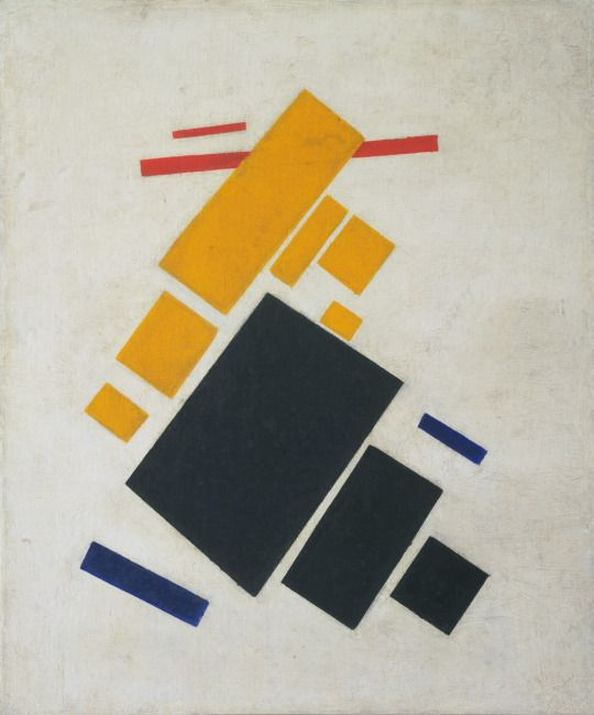 Kazimir Malevich, Suprematist Composition: Airplane Flying, 1915, oil on canvas, 58.1 x 48.3 cm, MoMA, New York. Source