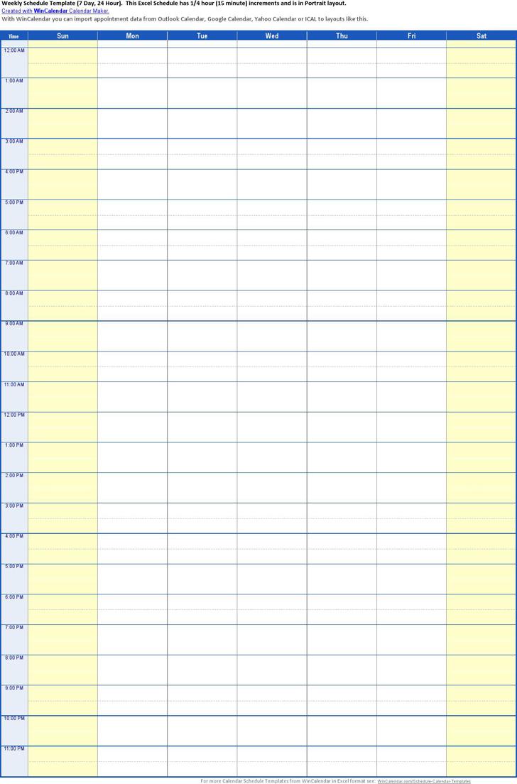 Time Schedule Template | planner | Pinterest | Schedule templates ...