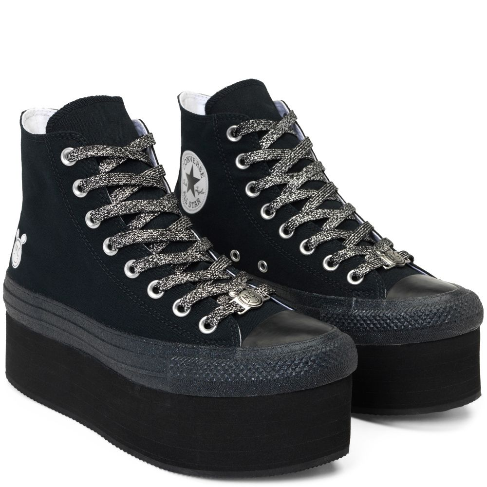 9413778475ff Converse x Miley Cyrus Chuck Taylor All Star Platform Black Black White