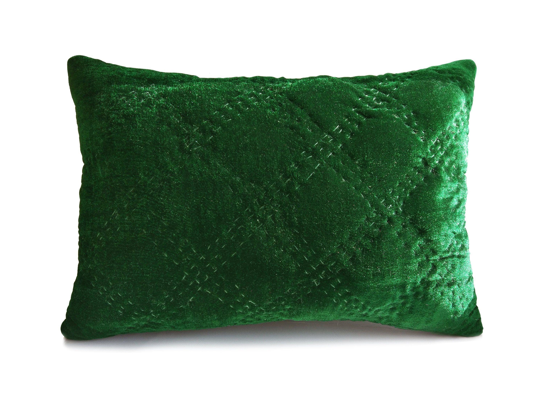 Velvet pillow cover green velvet pillow emerald green pillow blue