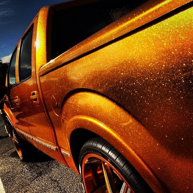 Image Result For Orange Metalflake Paint Truck Cool