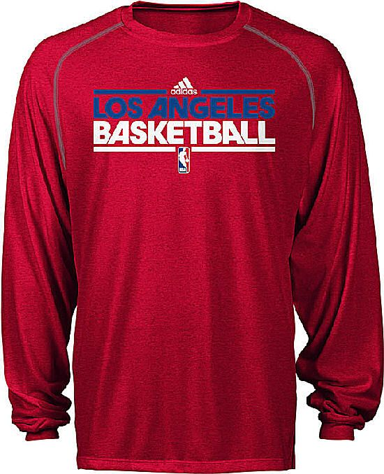 Los Angeles Clippers Heather Red Adidas Authentic On Court