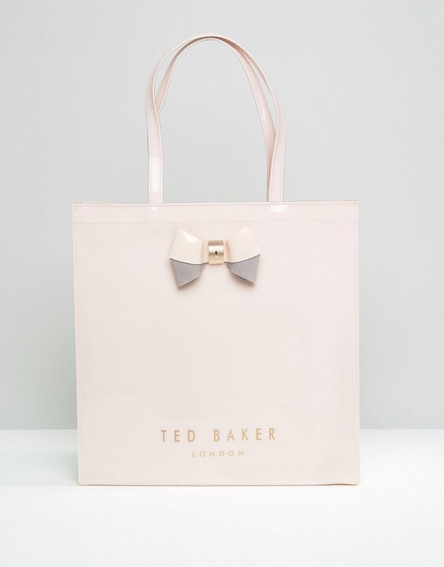 Pink | Ted Baker Large Icon Bag in Pale Pink at ASOS