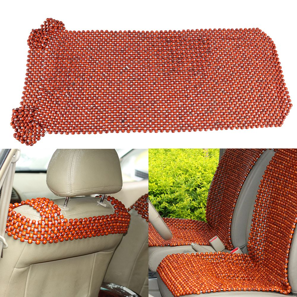 Car Styling African Rosewood Bead Front Seat Massages Cover Auto Chair Cushion Beaded Seats Covers