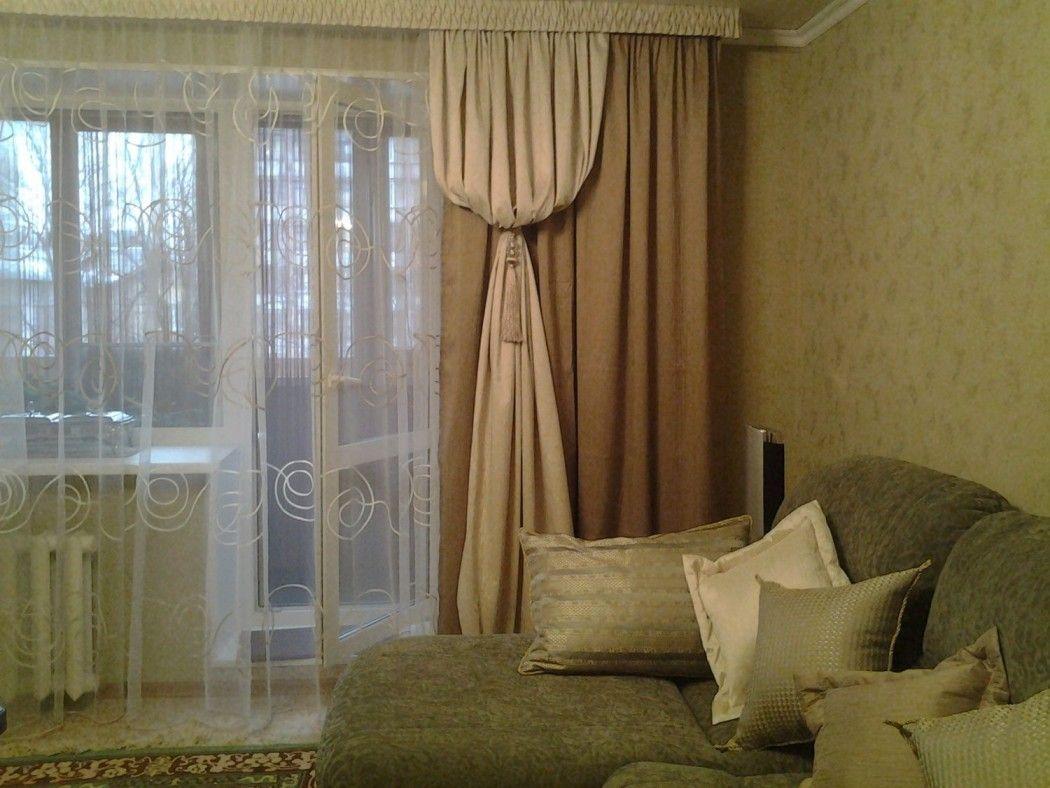 Шторы на балконную дверь в зале (23 фото): идеи выбора ...