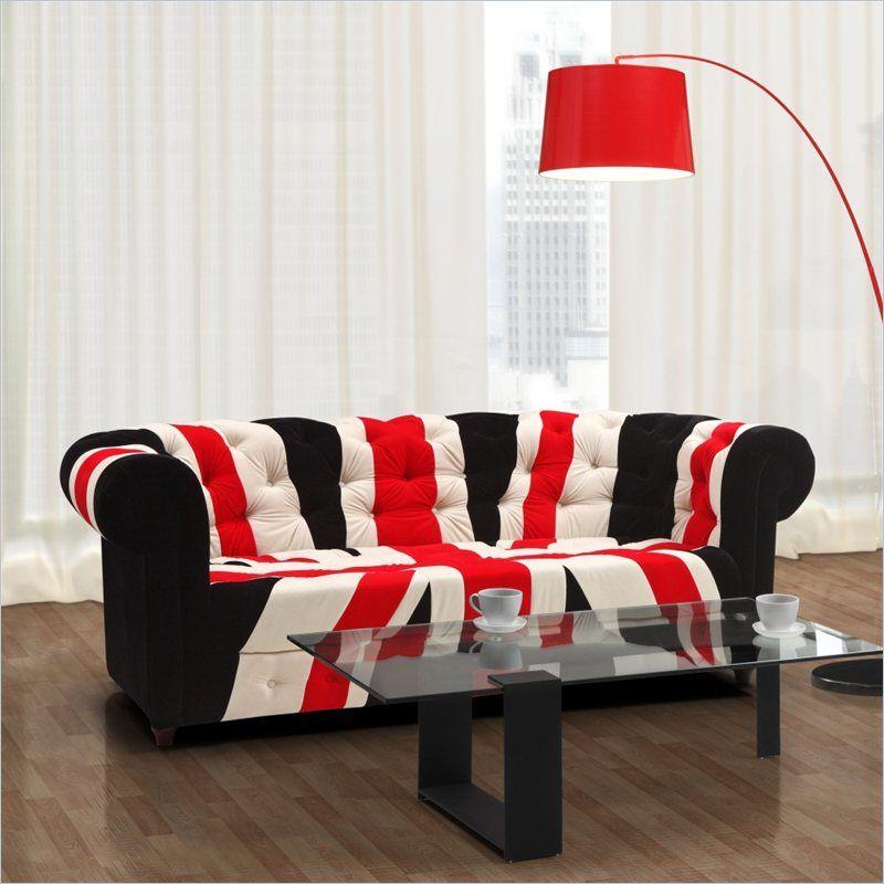 Urbnite Union Jack Sofa Union Jack Modern Glass