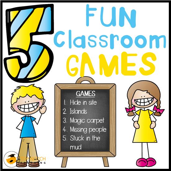 Design Your Classroom Games ~ Top fun classroom games students