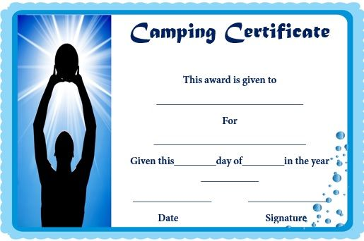 Basketball Camp Certificate Template | Basketball Certificate