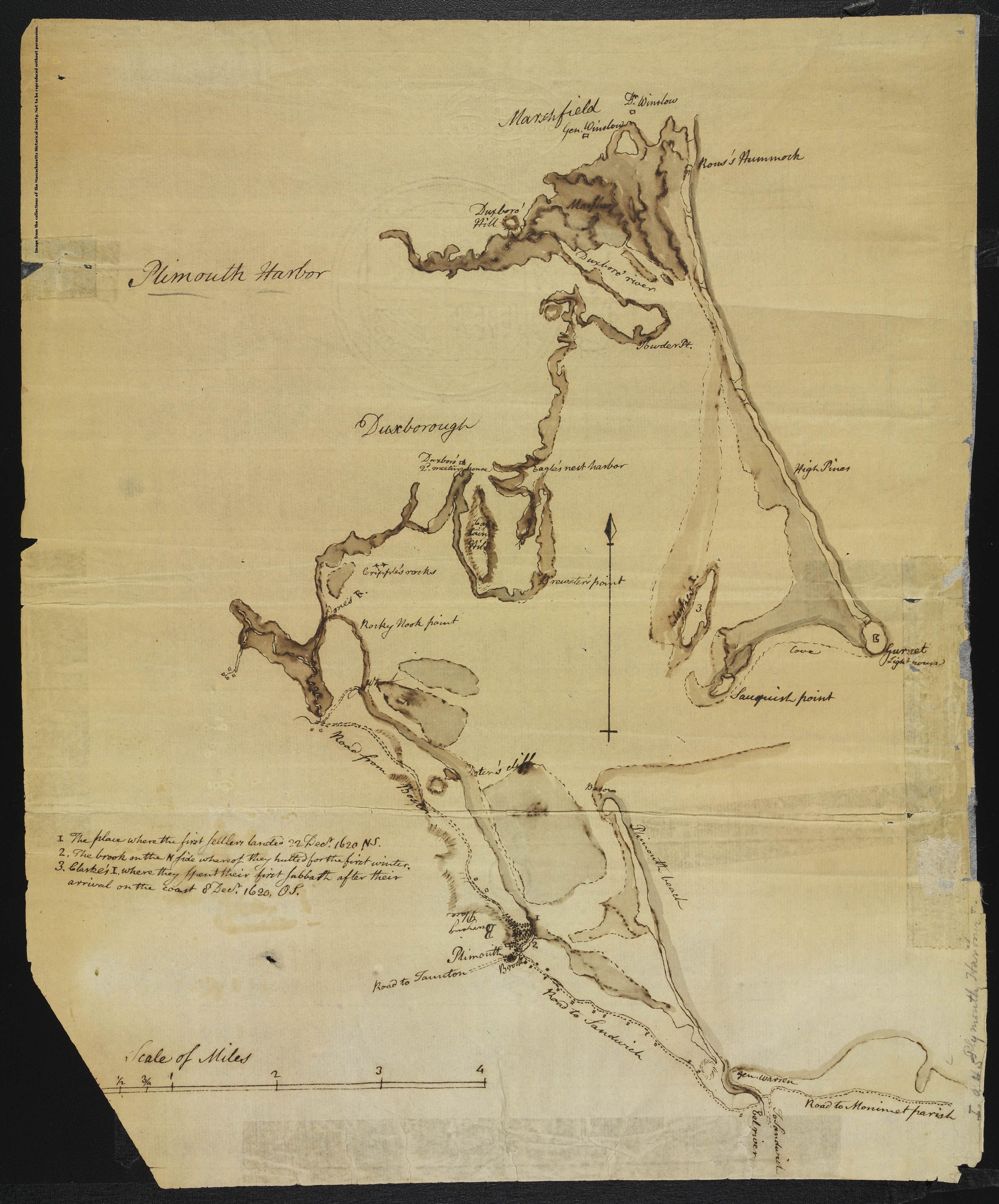 Massachusetts Historical Society Collections Online Manuscript map