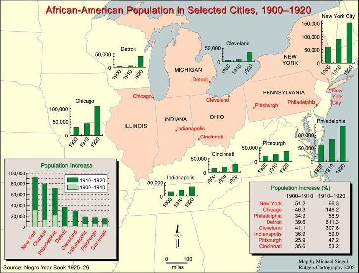 Great Migration Destinations American History Pinterest