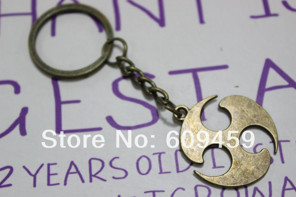 Bronze Naruto symbol keychain, key ring with Antique Brass Chain US $6.88
