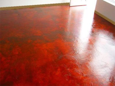 Artist 39 s studio floor concrete floor with textured for Black stains on concrete