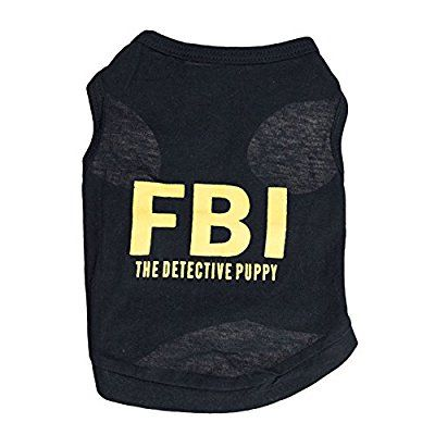 6ff7bfae9b8c DroolingDog Pet Dog FBI THE DETECTIVE PUPPY T-shirt... * See this awesome  image (This is an amazon affiliate link. I may earn commission from it)