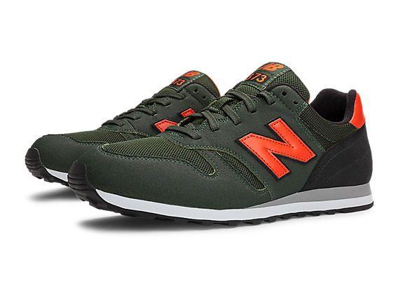 new balance 373 green orange