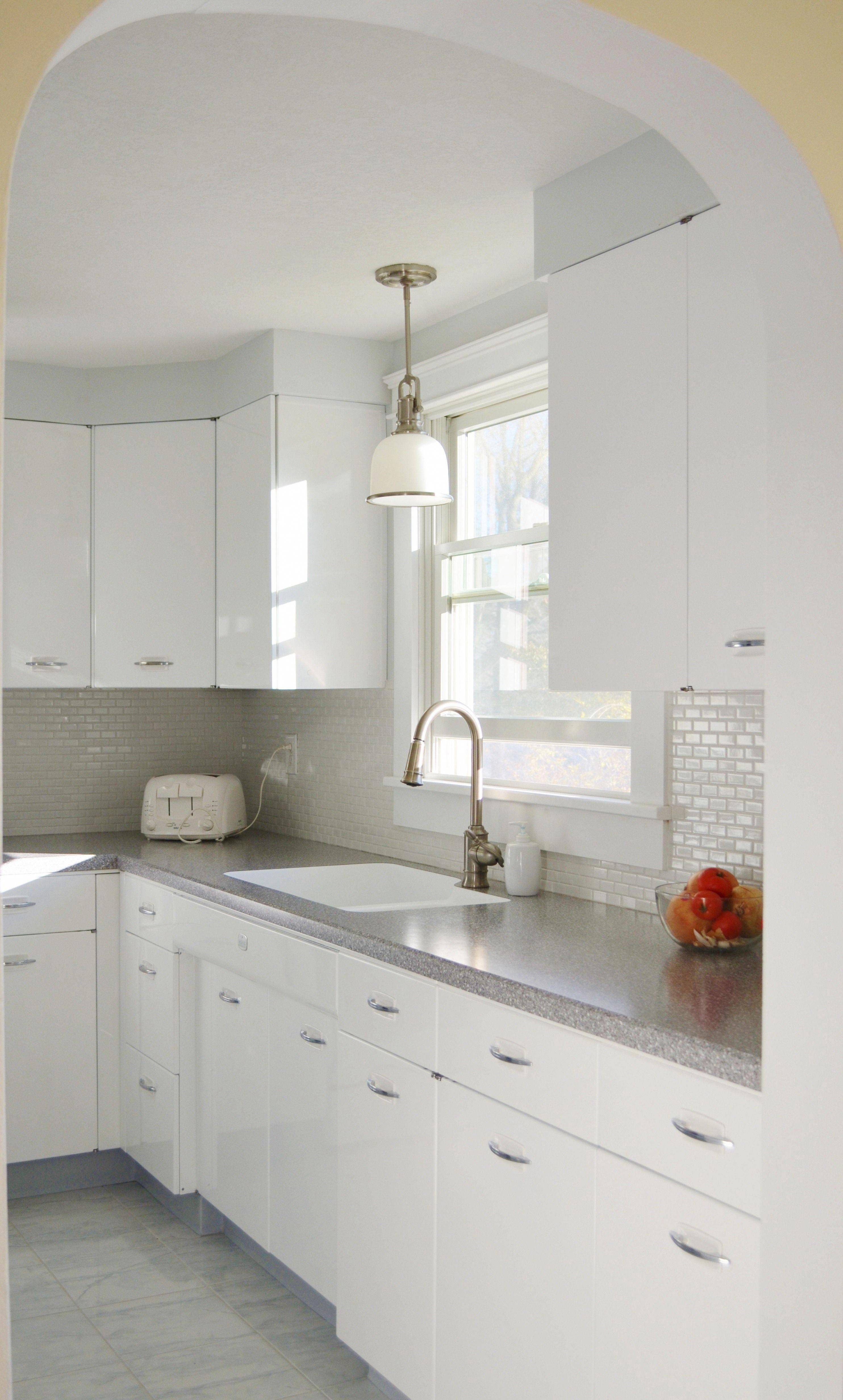 Hackel Construction Inc Remodeled This 1950 S Kitchen By Having The Geneva Brand Metal Cabinets R Metal Kitchen Cabinets Tuscan Kitchen Kitchen Remodel Small