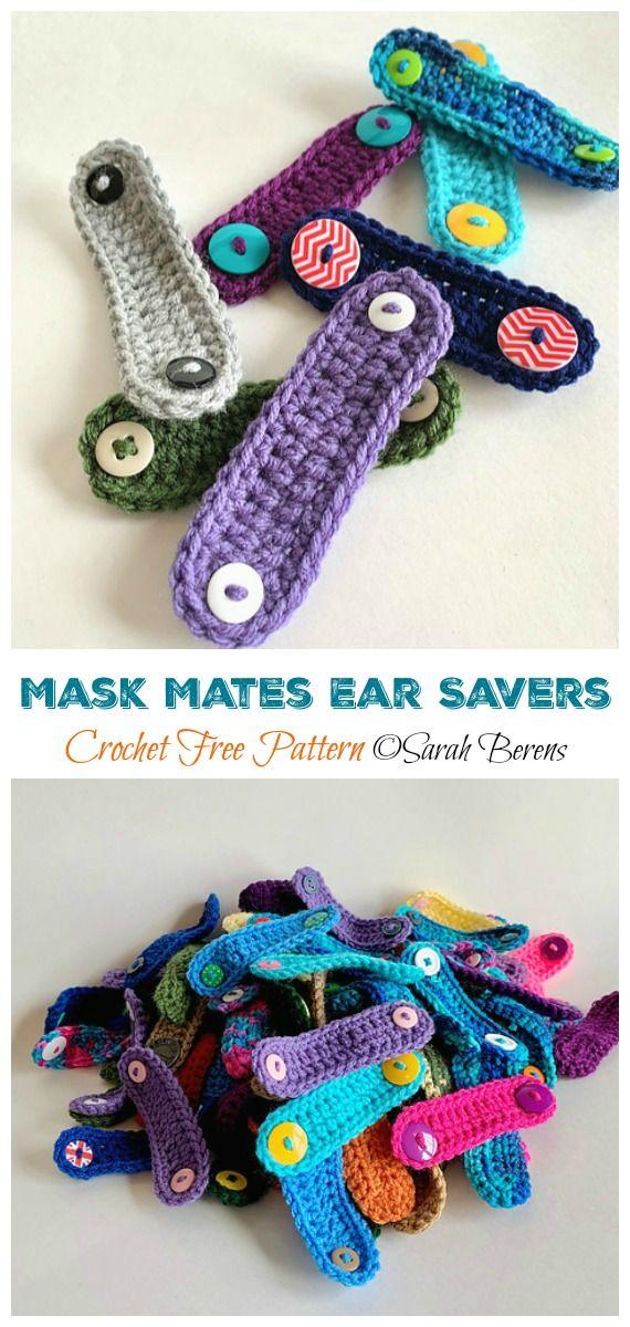 Mask Mates Ear Savers Crochet Free Patterns In 2020 Free Crochet Crochet Faces Crochet Mask