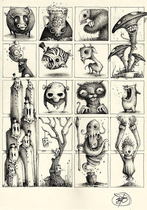 N N Foto Dibujo Monstruo Monster Art Dibujos Terrorificos