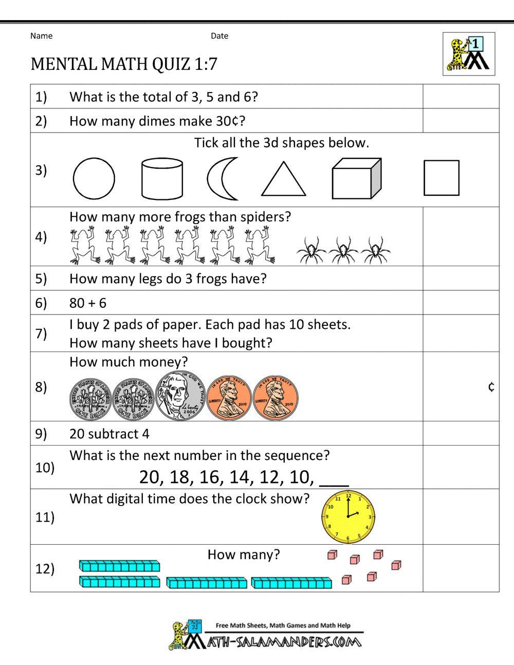 3 Subtraction Worksheets For Grade 1 First Grade Mental Math Worksheets In 2020 Mental Maths Worksheets Math Worksheets Year 7 Maths Worksheets [ 1294 x 1000 Pixel ]
