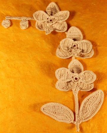 Irish Crochet Motif Pattern Orchid Spike Orchid Crochet And