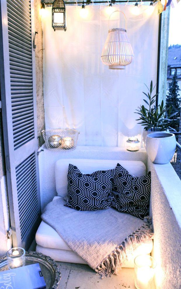 Une petite terrasse très cocooning et lumineuse Décoration d