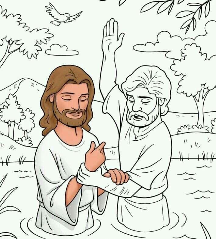 Bautismo de Jess  historias biblicas  Pinterest  Sunday school