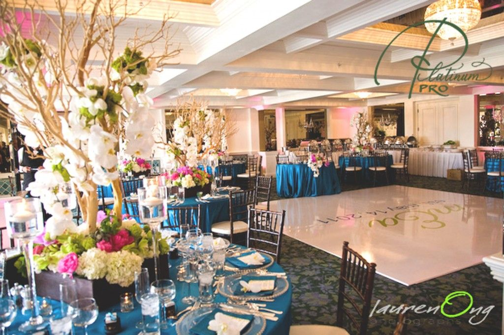 Custom White Seamless Square Dance Floor Wedding At La Valencia Hotel Jolla Ca