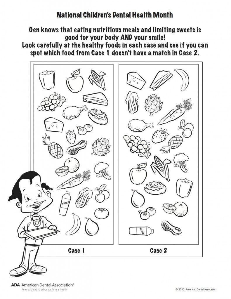 2013 Gen Healthy Food Find Fun worksheets for kids