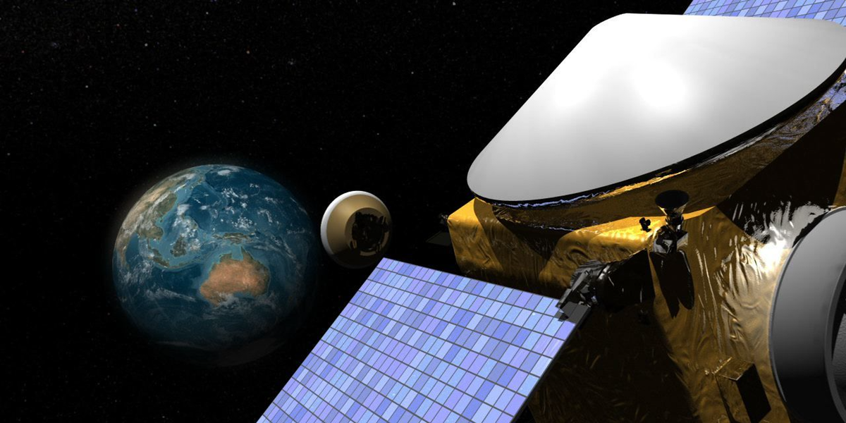 Asteroid Hunting Mission Detours to Study Enigmatic Earth