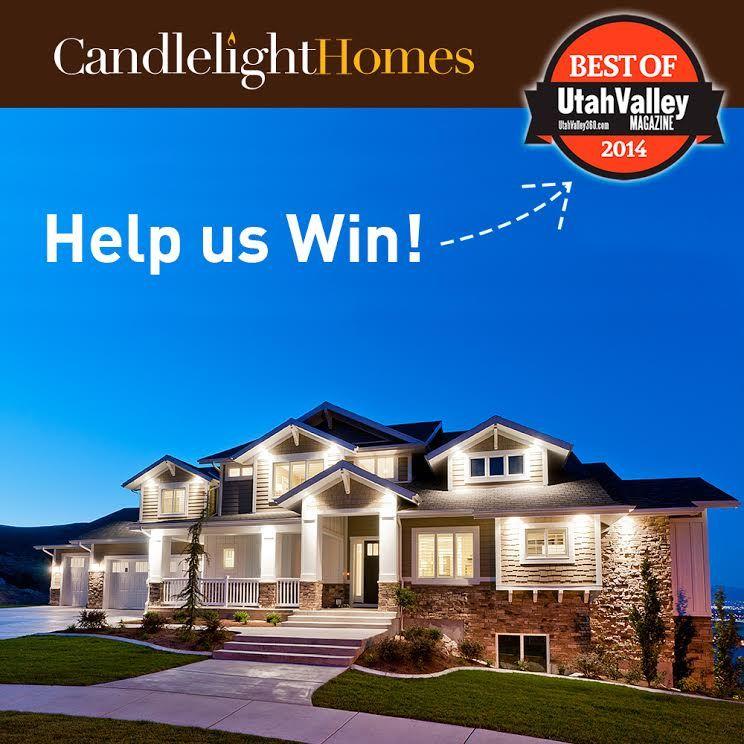 VOTE HERE: http://utahvalley360.com/contests/, utah, homebuilder, candlelight homes, utah valley