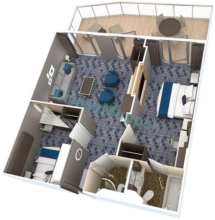 Harmony Of The Seas 2 Bedroom Royal Family Suite Floor Plan Harmony Of The Seas Cruise Royal Caribbean Ships
