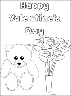 This Is A Valentine S Day Coloring Page Available Free On