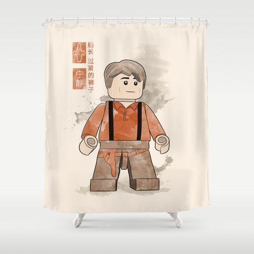 Captain Tightpants Lego Firefly Shower Curtain