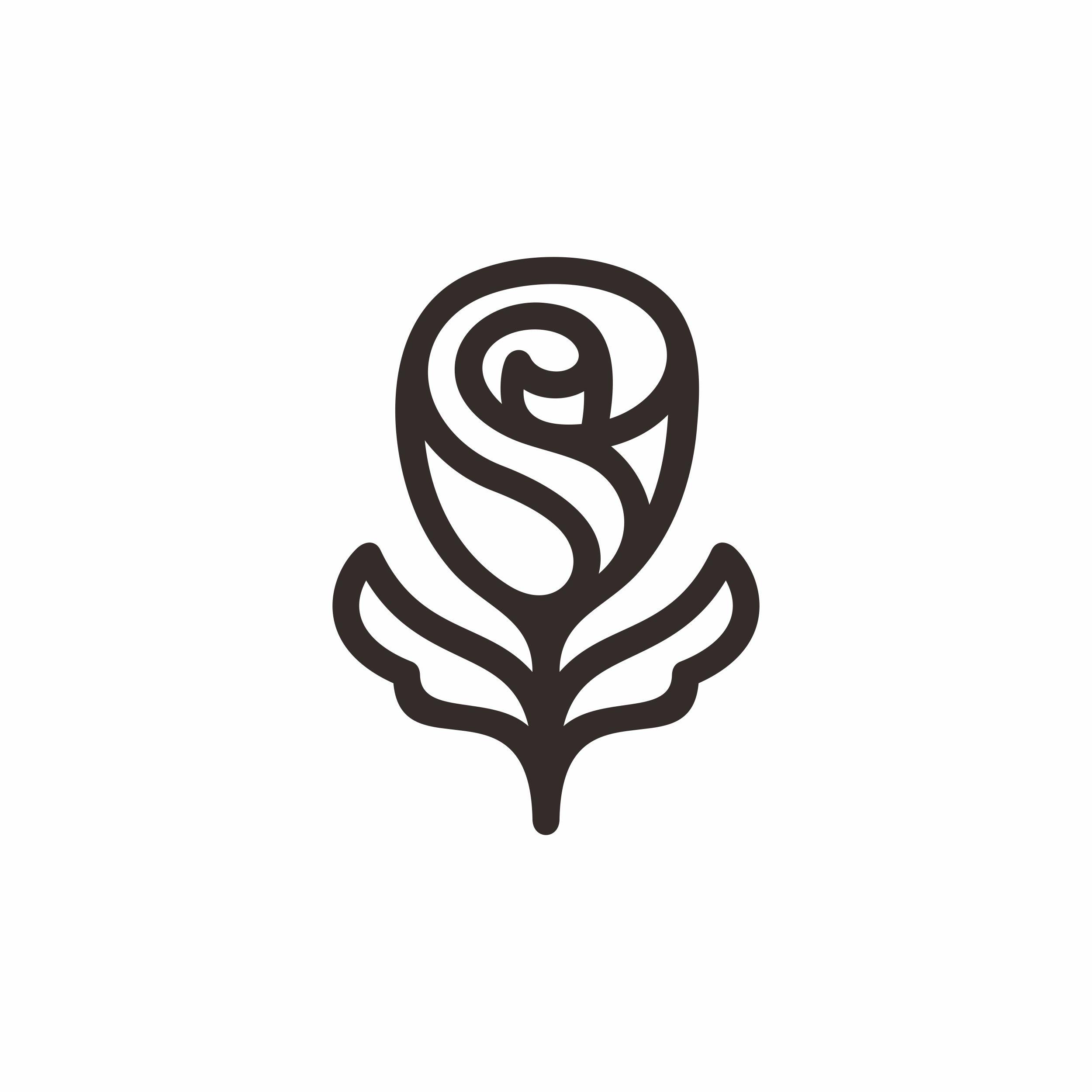 Flower logo design template. Rose flower | Flower logo ...