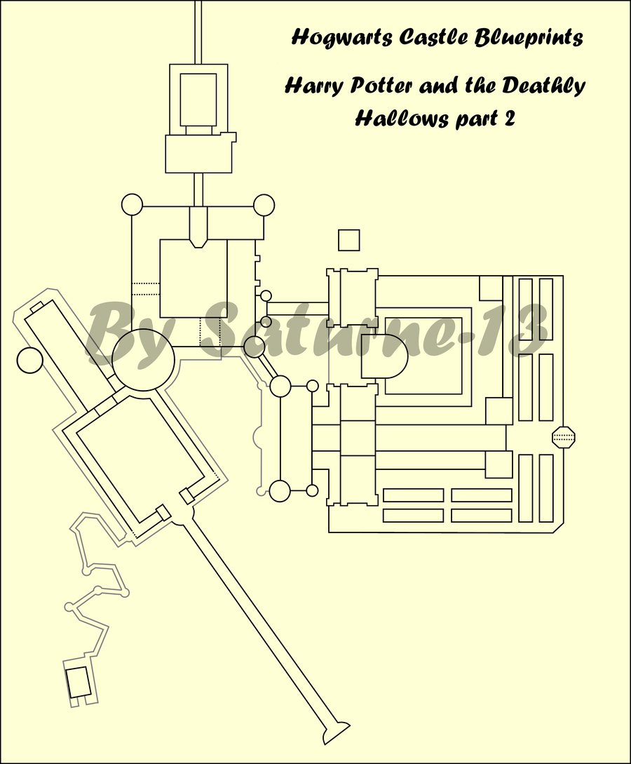 Hogwarts Castle Blueprints Movie 8 Hogwarts Hogwarts Castle Blueprint Movie