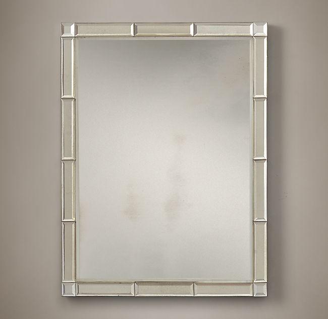 Triptic Border Decorative Bathroom Mirror Decorative Mirrors