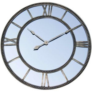 Better Homes And Gardens Mirror Clock Distressed Gold