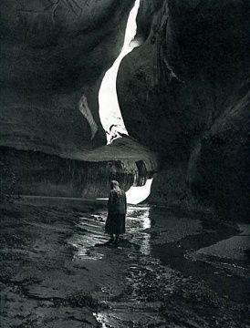 Georgia O'Keeffe in Twilight Canyon, 1964. Photo by Todd Webb