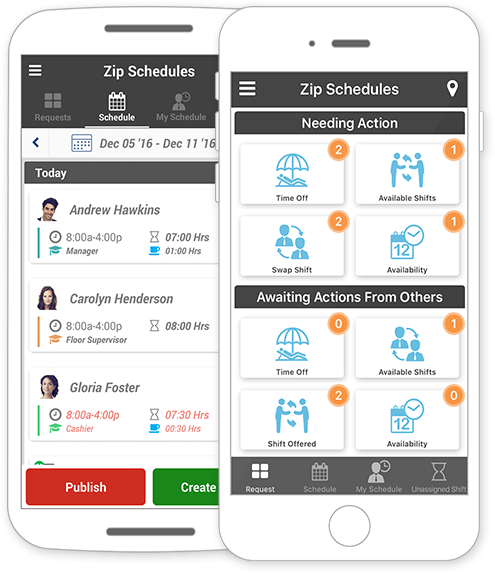 Zip Schedules Employee management, Scheduling software