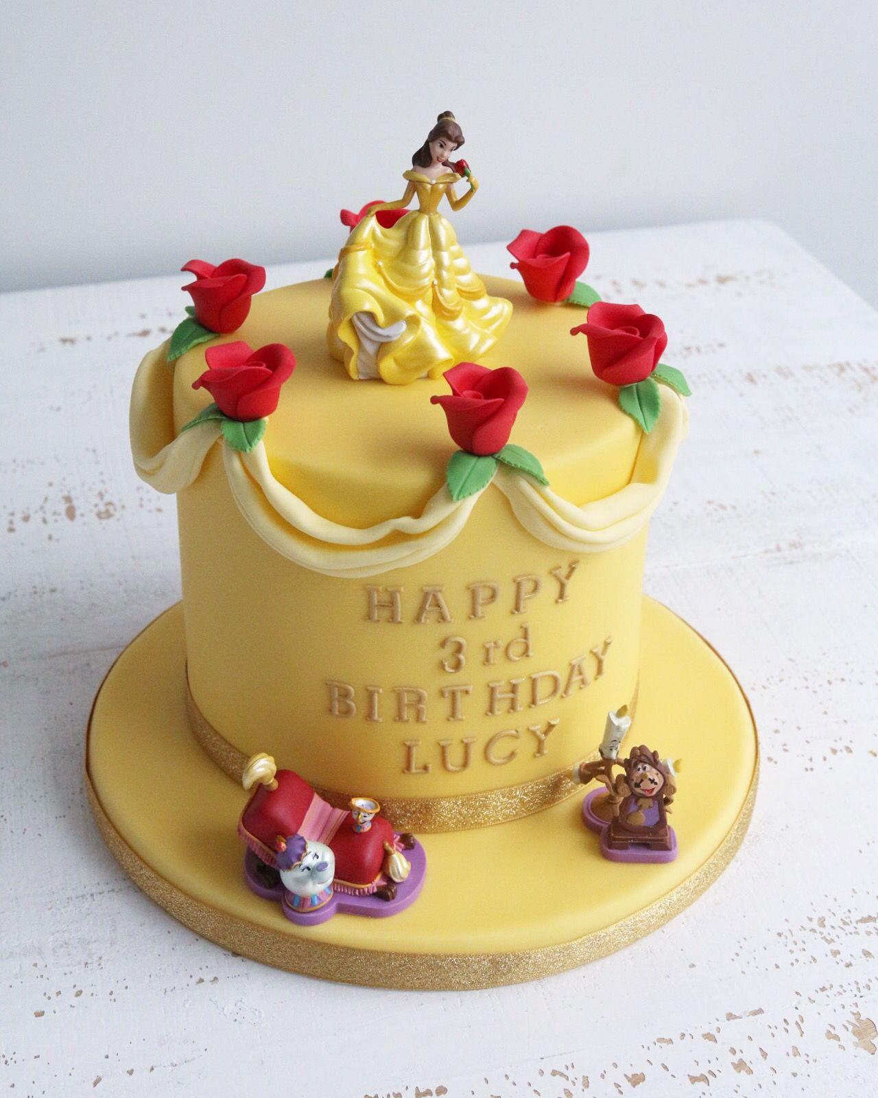 Brilliant Kids Birthday Cakes Beauty And The Beast Cake Birthdays Disney Funny Birthday Cards Online Elaedamsfinfo