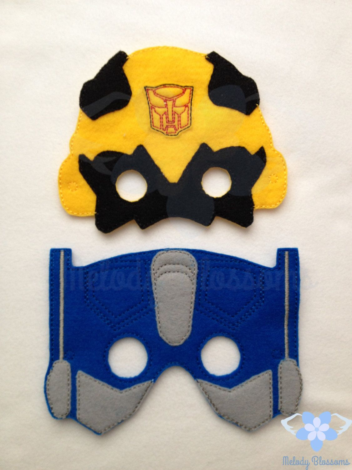 Transformers Bumblebee mask made of felt with one piece of felt as ...