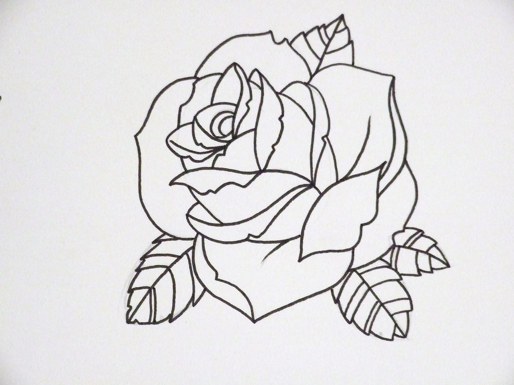 Rose Tattoos Outline