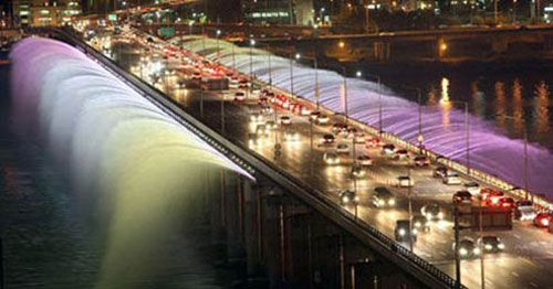 Banpo Bridge (South Korea): The Fountain Bridge.