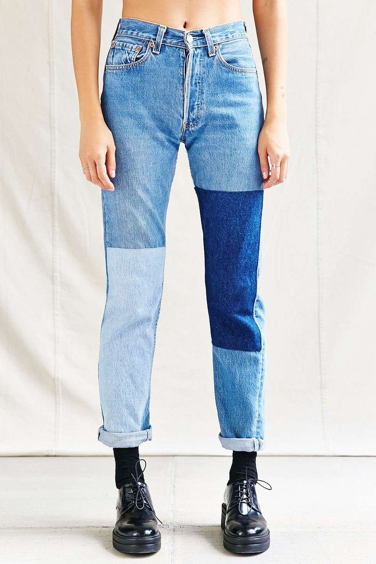 Photo of Urban Renewal Recycled Denim Panel Patch Jean