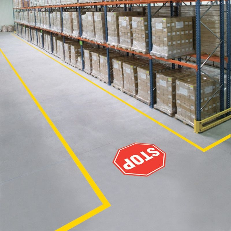 Mighty Line Stop Sign For Floors Floor Signage Warehouse Design
