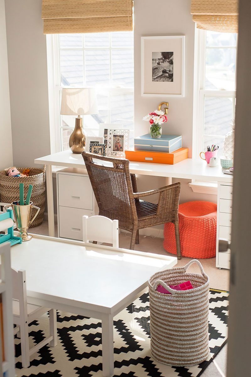 Adrienne Gilliam S Indianapolis Home Tour The Everygirl Office Playroom Guest Room Office Home Office Decor