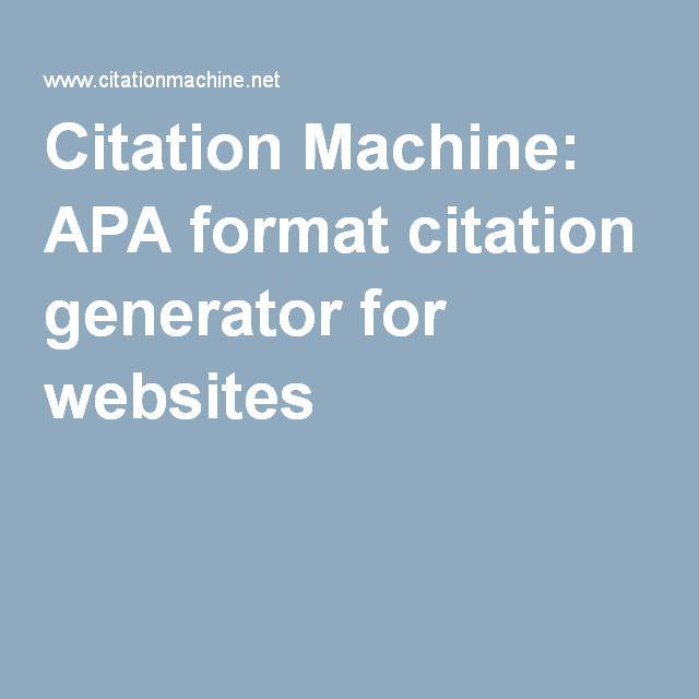 web citation generator