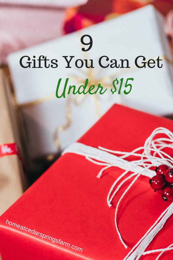 Under 15 dollars christmas gifts