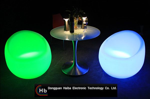 led table and chairs parsons dining chair slipcovers bar mat glowing illuminated mobile stool