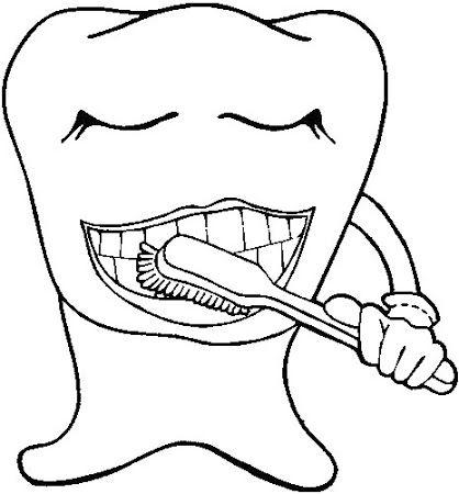 Ağız Ve Diş Sağlığı Boyama Sayfaları Gauranialmightywindinfo