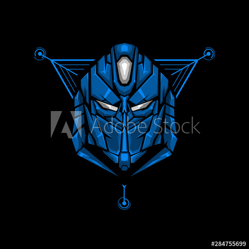 Robot Head Gaming Mascot Or Twitch Profile Robot Head E Sports Logo Design For Badge Or Apparel Sacred Geometry Illustration Sacred Geometry Futuristic Robot